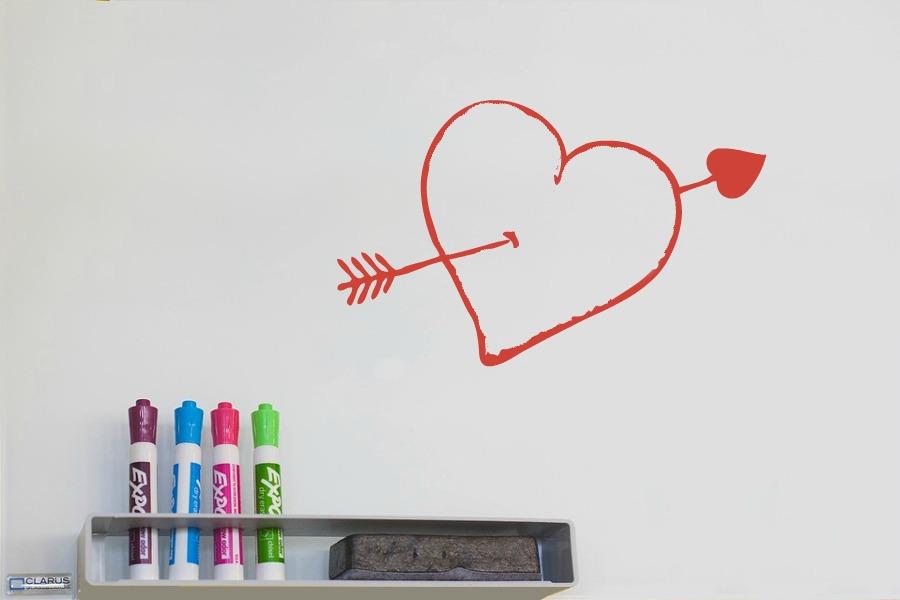 Valentine's Day Heart on Whiteboard