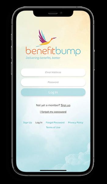 BenefitBump Sign-In Screen