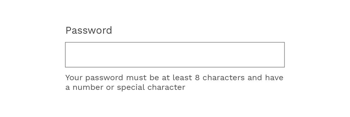 Password field description