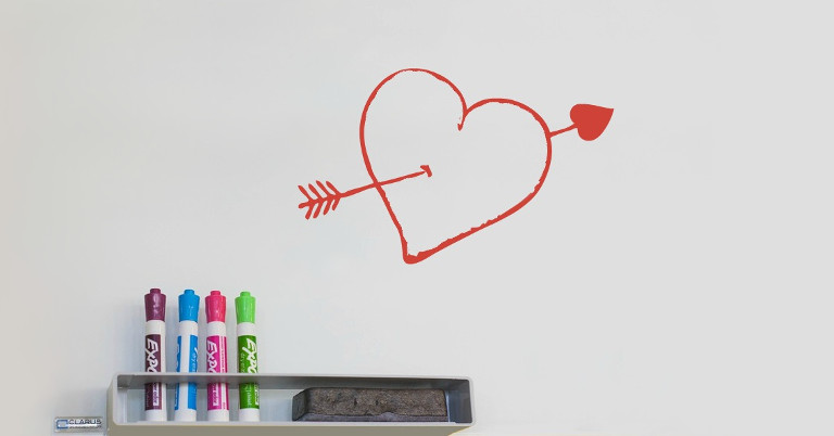 White Board on Valentine's Day